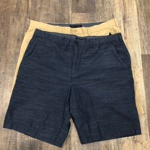 Tommy Hilfiger Chino Flat Front Shorts - Lot of 2